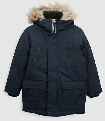 Next Boys Parka Jacket Coat 12 Years Navy BNWT