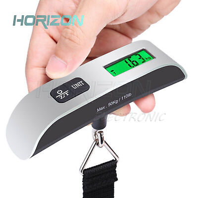 50kg/10g Portable LCD Digital Backlit Hanging Luggage Scale Electronic Weigh
