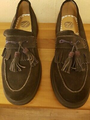 Mens New Brown Faux Leather Designer Fashion Smart Dress Suede Grey Casual Shoes
