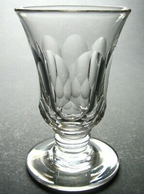 Antique Georgian or Early Victorian Hand Blown Facet Cut Jelly Glass