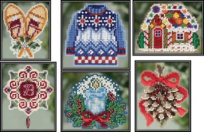 Mill Hill Winter Holiday Beaded Cross Stitch Kits - Choose One
