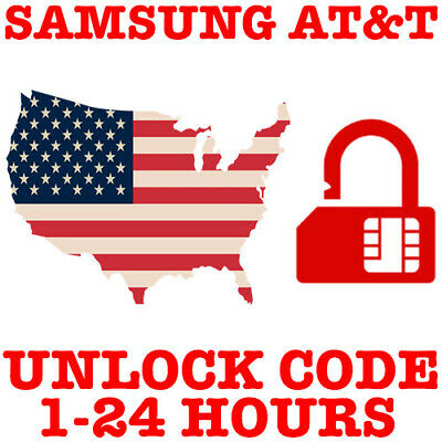At&T Unlock Code Service For Samsung Galaxy S9 S8 S7 S6 Active Edge Note 8 5 4