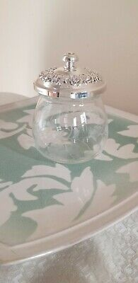 S Kirk & Son Repousse Sterling Silver Jam Jar