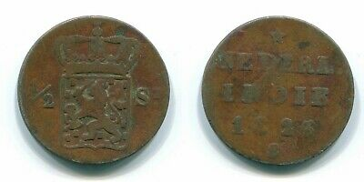 1825 SUMATRA 1/2 STUIVER NETHERLANDS EAST INDIES Colonial Coin #S11827UW