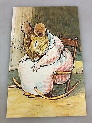 Postcard - Beatrix Potter - Mrs Tittlemouse Asleep - New And Never Used