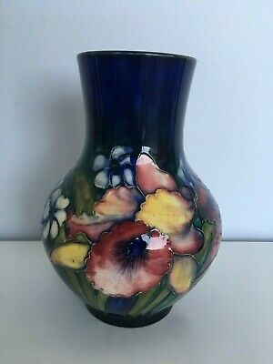 Beautiful Moorcroft Vase with Orchid Pattern 18cm