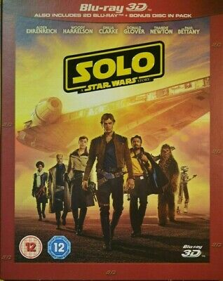 Solo - A Star Wars Story [Bluray 3D+2D] 1U - New & Sealed With Slipcover