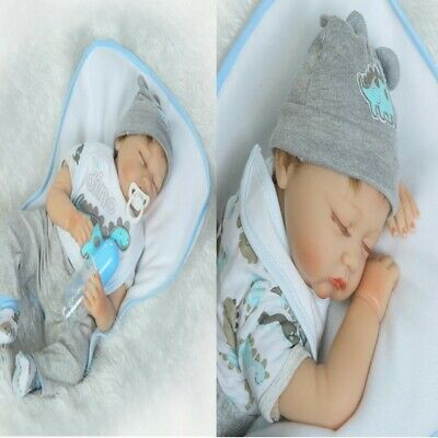 """Toddler Dolls Realistic Soft Silicone 22"""" Reborn Baby Dolls Kids' Best Xmas Gift"""