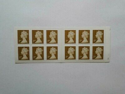 Book Of 12 Mint Unused First Class Gold Security Stamps