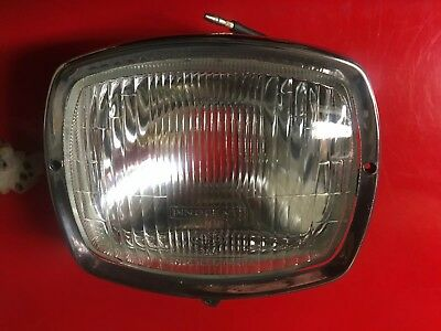 Lambretta GP Glass Headlight Marked Innocenti With Bulb Holder