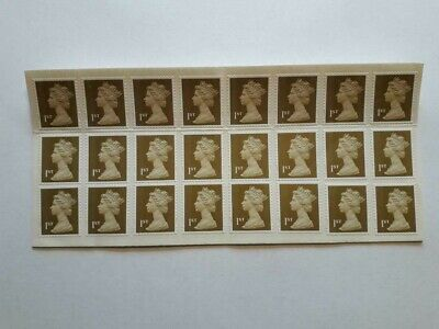 Sheet Of 24 Mint Unused First Class Gold Stamps With Full Original Gum