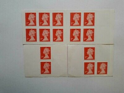 15 Mint Unused First Class Red Security Stamps