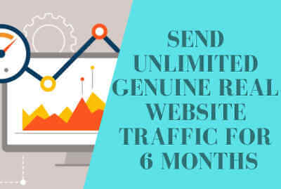Send Unlimited Genuine Real Website Traffic for 6 Months Genuine Real Traffic