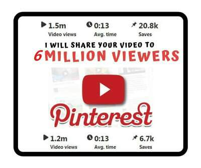 Share Your Video to 6 Million Pinterest Monthly Viewers Best Seo Title
