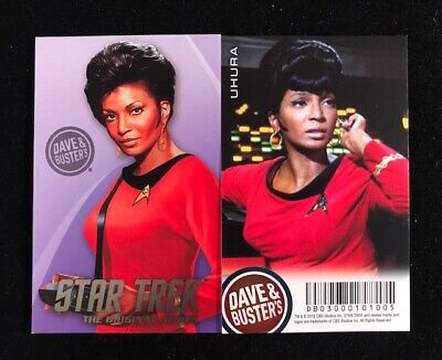 Dave and Busters Star Trek Coin Pusher TOS Series Uhura Card