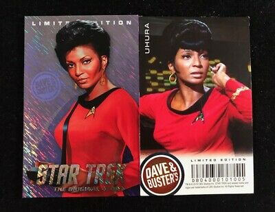 Dave and Busters Star Trek Coin Pusher TOS Series Uhura LE Foil Card