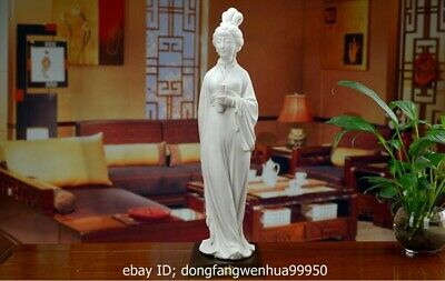 China Dehua White Porcelain Handwork Ancient Chinese Lady Woman Statue