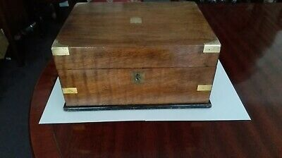 Antique Mahogany Brass Banded Writing Slope