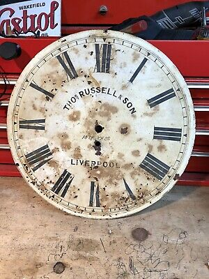 Thomas Russell & Son Liverpool Clock Face.