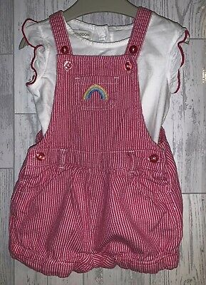 Girls Age 3-6 Months - Monsoon Dungarees & Top Outfit