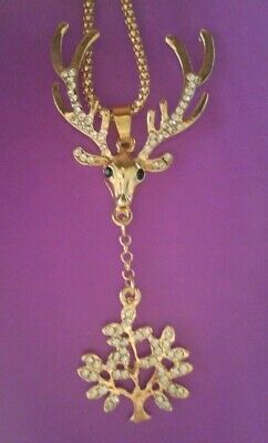 Betsey Johnson Beautiful fashion deer head Charm Women's Necklace