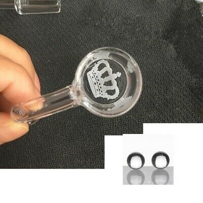 Banger 25mm OD 14mm Male Crown Engrave + 2 Pearls USA Shipping Same Day
