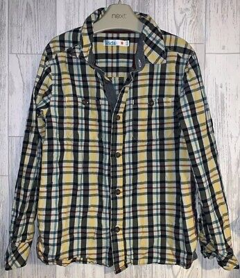 Boys Age 6-7 Years - M&S Checked Long Sleeved Shirt