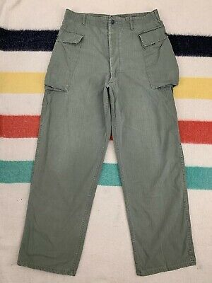 Vintage 40's WW2 US Military Army 13 Star HBT Cotton Combat Pants Trousers 36x33