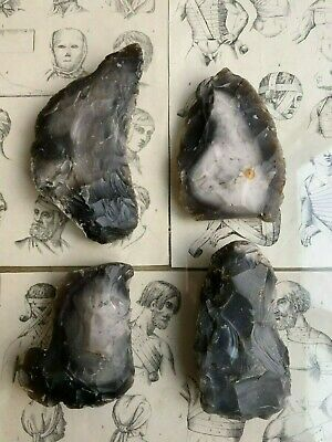 4 Neolithic tools of labor flint stone agriculture sickle kit from one place