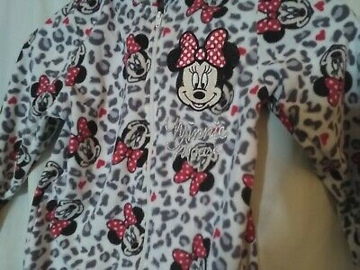 Mini Mouse Fleece One Piece Body Suit Age 6/7 Years