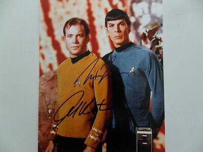 William Shatner, Leonard Nimoy Signed 8x10 Photo Picture Autographed Pic