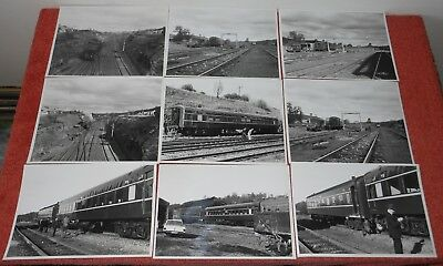 9 x OFFICIAL NSW DEPARTMENT OF RAILWAYS PHOTOGRAPHS~1966 TRAIN ACCIDENT INCIDENT