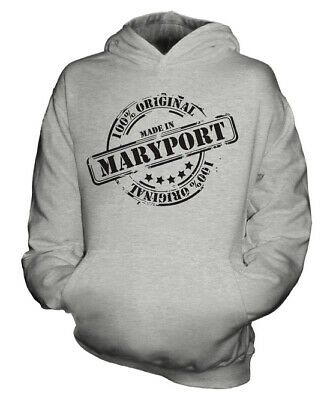 Made In Maryport Unisex Kids Hoodie Boys Girls Children Toddler Gift Christmas