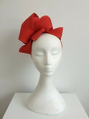 Miss Samantha womens braided loop headband fascinator in Red