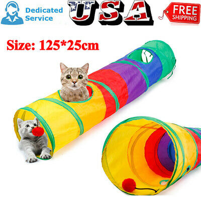 Free Combination Pet Cat Tunnel Pop Up Tube Collapsible Kitten Rabbit Plays Toys