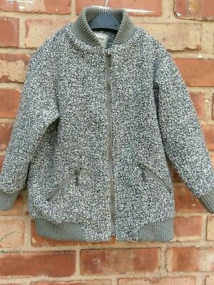 Girls Next Grey Thick Warm Winter Jacket Age 5 Years Very Good Condition #H