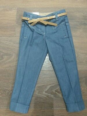 Next-  Blue  Chinos Casual Trousers- Girl 4 Years - New #G