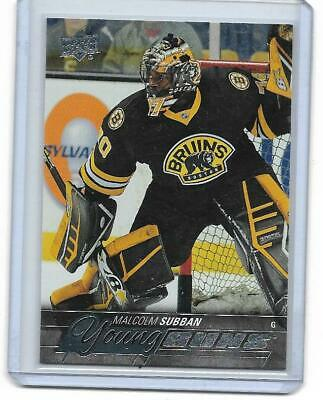 2015-16 Upper Deck #211 Malcolm Subban YG RC YOUNG GUNS ROOKIE 12$US VEGAS