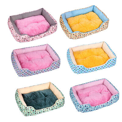 Pet Cat Dog Bed Puppy Cushion Soft Warm House Kennel Mat Blanket Washable Mat