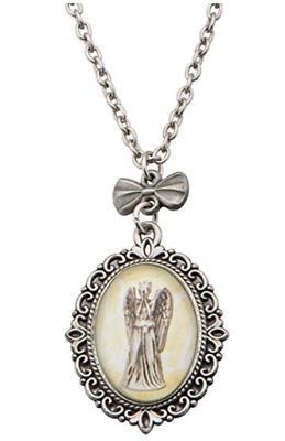 Doctor Who Weeping Angel Stainless Steel Pendant Necklace