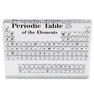 17X12cm Periodic Table Display with Elements Acrylic Student Teacher Gift Desk