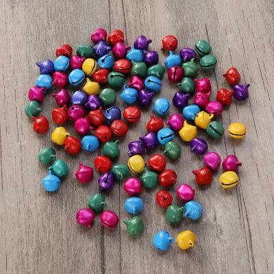 100PCS Jingle Bells Small 12mm Decorative Toys Supply for Jewelry Xmas Christmas