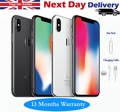 Apple iPhone X (iPhone 10) 64GB 256GB Unlocked SIM FREE Smartphone Grey Silver
