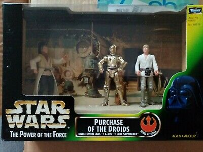 Star Wars Power Of The Force Purchase Of The Droids Cinema Scene Mib Potf