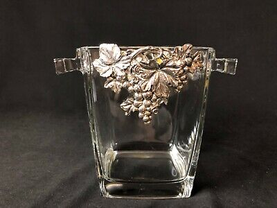 """Ice Bucket Silverplate Grapes France (5&3/4"""" Tall)"""