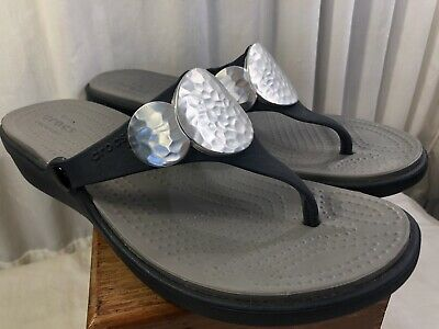 SKECHERS BLACK FLIP Flop With Embellished Starfish 9 Womens