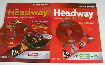 Oxford NEW HEADWAY ELEMENTARY FOURTH EDITION STUDENT'S BOOKS WORKBOOK DVD