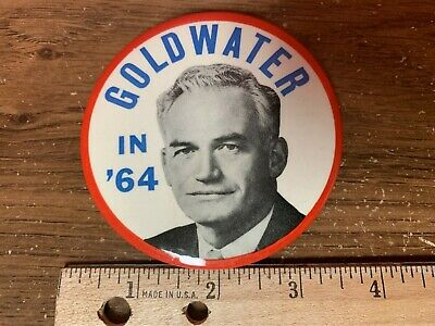 "1964 ""Goldwater In '64"" President Political Button"