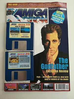 Amiga Action Magazine Retro Gaming December 1991 With Both Disks!