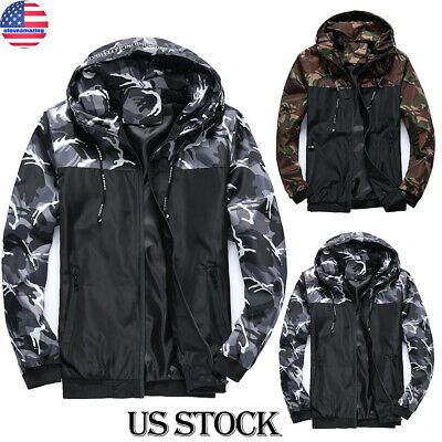 Mens Winter Jacket Army Military Camouflage Tactical Hunting Waterproof Coat USA